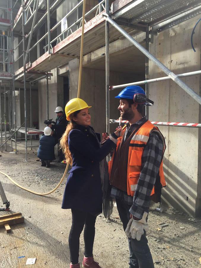 Fabienne's und Laura's Arbeit beim Swisscom Dreh