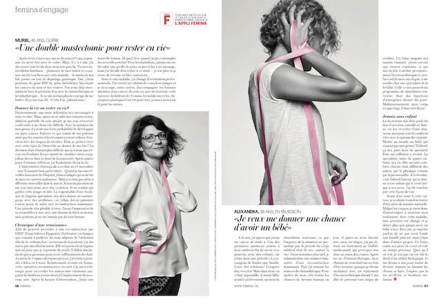 Fabienne's Arbeit für Femina
