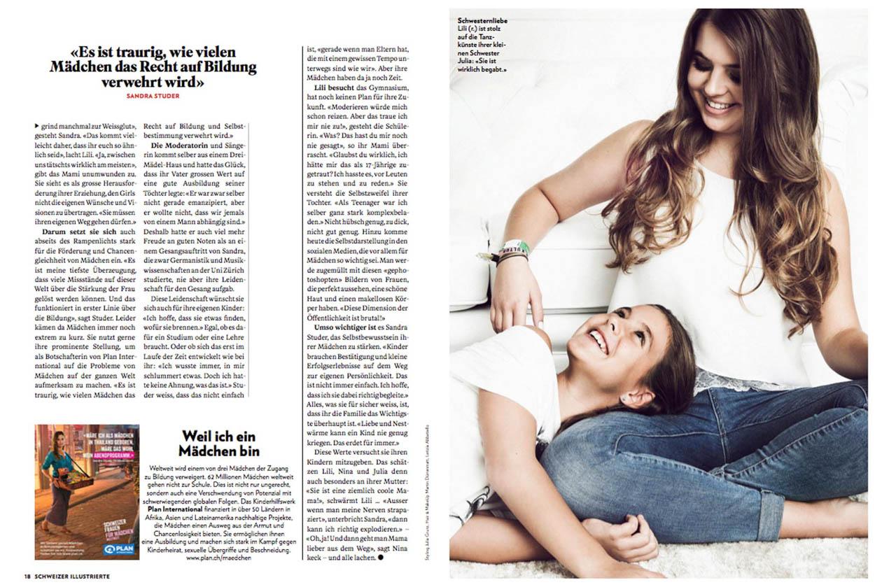 Neue Arbeit von Letizia für die Schweizer Illustrierte