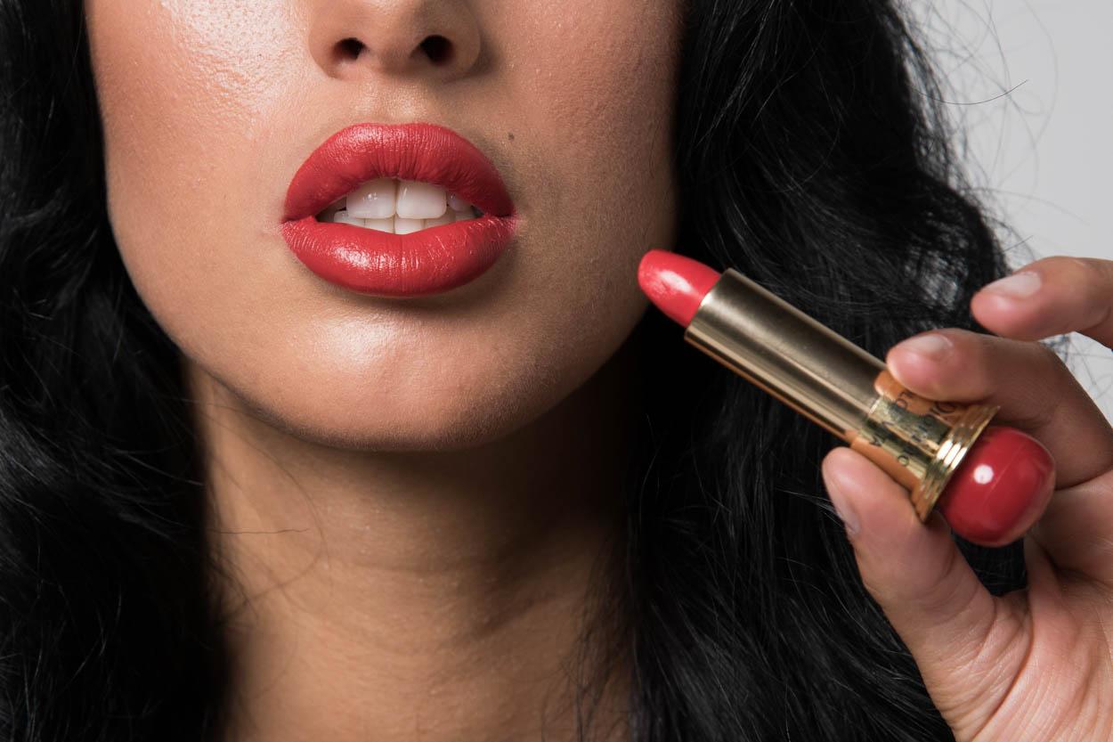 Der Klassiker: rote Lippen