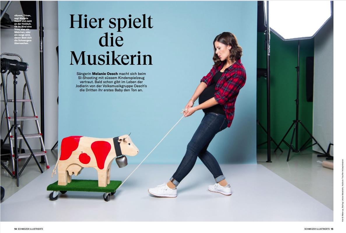 Neue Arbeit von Letizia für Schweizer Illustrierte mit Melanie Oesch