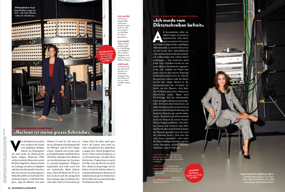 SI Shooting - Frauenpower am Fernsehen die neue Arbeit von Fabienne, Jesca, Laura & Letizia