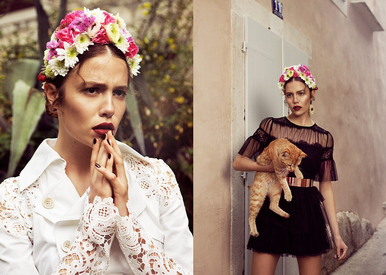 Hair, Nail, Make-up und Fashion styling portfolio / melanie-volkart - blumenfrau-mit-katze--ID546-1.jpeg?v=1585738070